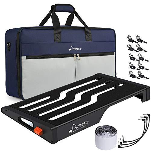 Donner Gitarre Pedal Board Case Aluminium Pedalboard mit Tasche, Gitarren Effektboard, 560 * 324 * 67mm, (DB-S300)