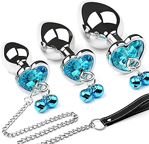 3 pièces/ensemble rond de luxe gemme conception de bijoux prise en acier inoxydable prise bijou métal ensemble pour femmes et hommes débutant