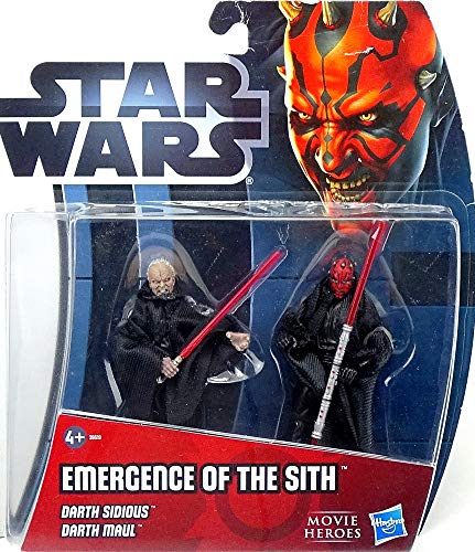 Hasbro Emergence of The Sith Darth Sidious & Darth Maul im Set - Star Wars Movie Heroes