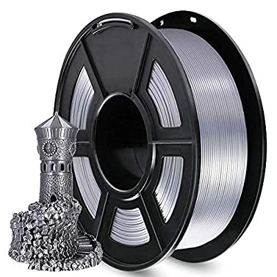 AnKun Pla+ Filament 1.75mm,PLA Plus 3D Printing Material for 3D Printer and 3D Pen, Dimensional Accuracy +/- 0.02mm, 1kg 1 Spool (PLA+ Sliver, PLA+)