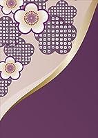 igsticker ポスター ウォールステッカー シール式ステッカー 飾り 1030×1456㎜ B0 写真 フォト 壁 インテリア おしゃれ 剥がせる wall sticker poster 005248 フラワー 和風 和柄 紫 花