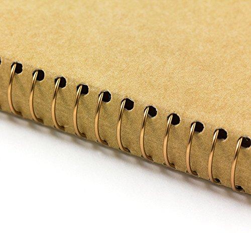 1 X Midori-spiral ring notebook camel blank notebook Photo #9