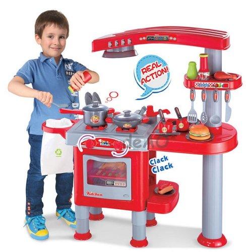 Cocina de juguete para niños - Juego de imitación con más de 30 acc