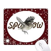 スズメの鳥 オフィス用雪ゴムマウスパッド