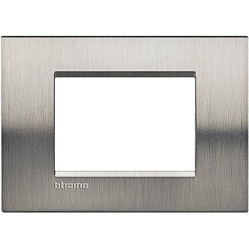BTicino Livinglight Placca, 3M, Forma Rettangolare, Acciaio...