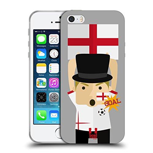 Head Case Designs Inghilterra Viva Il Calcio Cover in Morbido Gel e Sfondo di Design Abbinato Compatibile con Apple iPhone 5 / iPhone 5s / iPhone SE 2016
