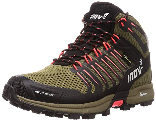 Inov-8 Womens Roclite G 345 GTX - Mid Waterproof Hiking Boots - Lightweight - Brown/Coral - 7.5