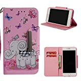iPhone 6S Case, iPhone 6 Case, ZERMU Painted Pattern Premium PU Leather Magnetic Flip Wallet Purse Case with Kickstand Card Holder ID Slot and Hand Strap Shockproof Protective Cover for iPhone 6/6S