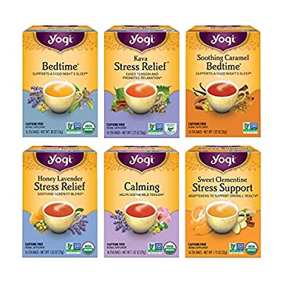 Yogi Tea - Stress Relief and Herbal Tea Variety Pack Sampler (6 Pack) - 96 Tea Bags from Yogi