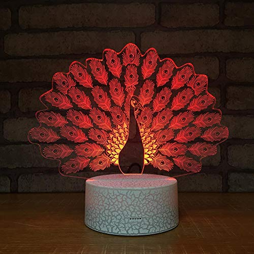Cartoon niedlichen Vogel Tier fliegende Adler Eule Pfau Phoenix Flamingo 3D Tischlampe schöne Led Nachtlicht Dekoration Kinder Geschenk