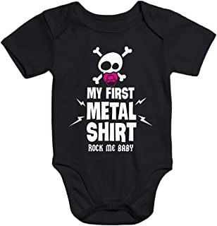 MoonWorks Kurzarm Baby Body My First Metal Shirt Hardrock Heavy Metal Bio-Baumwolle