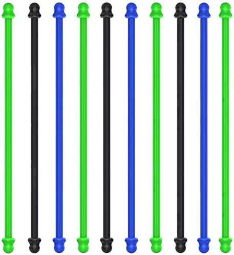 10Pcs 4 Inch Original Silicone Cable Tie Steel Core Silicone Twist Ties Reusable Rubber Twist product image