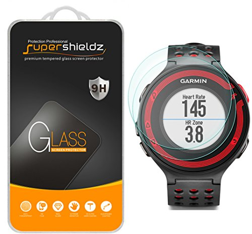 (2 Pack) Supershieldz Designed for Garmin Forerunner 220, 225, 230, 235, 620, 630 Tempered Glass Screen Protector Anti Scratch, Bubble Free