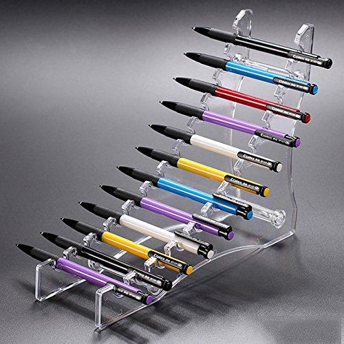 E-Meoly Soporte de exhibición de plástico transparente de 12 capas para pluma/lápiz de cejas/cepillo de maquillaje/cepillo de uñas