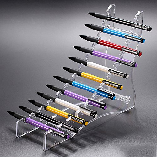 E-Meoly 12 capas de acrílico transparente soporte de exhibición para bolígrafo/lápiz de ceja/pincel de maquillaje/cepillo de uñas/cigarrillo electrónico