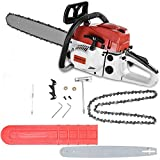 52cc Gas Chainsaws, 4.0HP 2-Cycle Gas Powered Chain Saws,20-Inch Chain Bar Corded Chainsaw,12500r/min,Tool-Free Chain Tensioning, Auto Oiling,Lightweight ,16.5LBs(From NJ)
