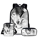 School Bags, Children's Backpacks, 3d Wolf Pattern School School School Bags, Boys And Girls School Bags, Student Bags L3509ECK