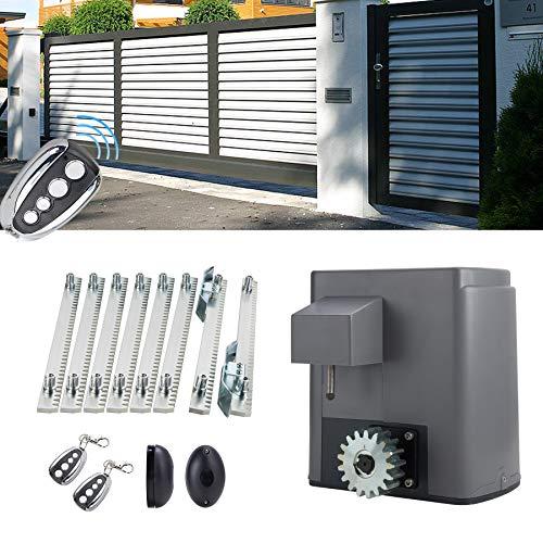 Valens Motorisation pour Portail Coulissant, Motorisation Électrique Automatique pour Porte Coulissante avec Télécommandes pour Ouvre-porte (280W)