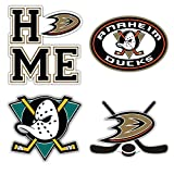 Anaheim City Duck Sport Hockey Logo Die-Cut Sticker Aufkleber Decal - Set of 4 Pieces - Longer Side...