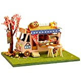 NIKALONG DIY Cottage, Automobile Market Store, Handmade Wooden Birthday Gift, Mini Doll House, Handmade Toy House Set, Game Room Creative Model (Kanto Cook Store)