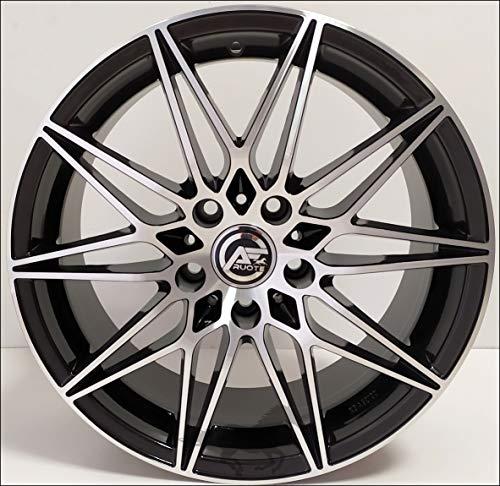 1 AC-MB5 Llantas de Aleación NAD 8 18 5X120 30 72,6 Compatible Con BMW Serie 3 4 5 6 X1 X3 X4 Negro Brillante Diamante