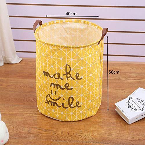 LJQLXJ Cesto de ropa sucia Cesta de lavandería de gran capacidad de dibujos animados a prueba de agua plegable de lino cesta de picnic almacenamiento de niños caja de juguetes, cesta de lavandería M1