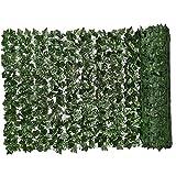 Siepe artificiale verde foglia artificiale Ivy recinto privacy muro vegetale simulato Sfondo Erba decorativo per esterna del giardino Balcone 0.5x1m Garden Decor