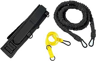 ダブル抵抗ロープ、強い負荷、物理的な訓練、陸上競技、爆発力、スプリントプル (色 : 黒)