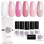 Gel Nail Polish for Nails, Soak Off UV Pink Gel Kit