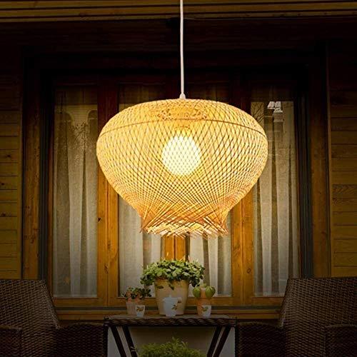 E27 restaurante luces pendientes Tea Shop Araña individuo creativo hecho a mano de ratán estilo del jardín del restaurante de la lámpara pendiente Barra Rattan iluminación Nido de Pájaro de habitacion