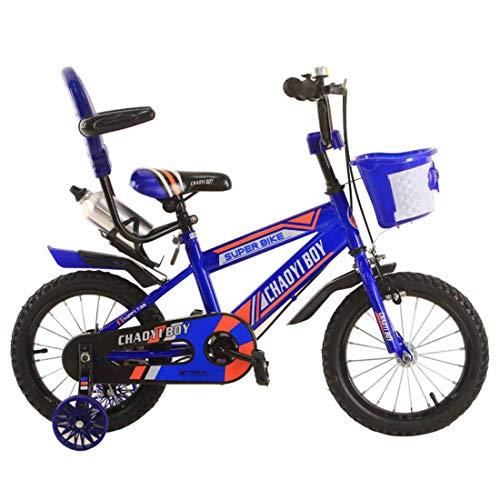 Muyu Kinderfiets met steunwielen fietsmand als geschenk voor jongens en meisjes 12 (14, 16 inch)