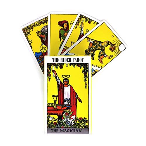 Tarjeta Tarot, 78 Hojas The Rider Tarot Deck, Oracle Tarjets Party Game Board Juego, Adultos y niños Tarjetas de Tarot (Edición en inglés)