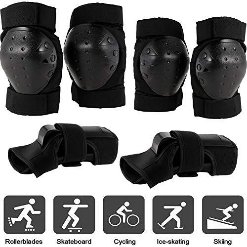 JOELELI Protective Knee Pads Set Protective Gear Set mit Ellbogen-Handgelenk-Pads für Kinder Teenager Erwachsene(M)