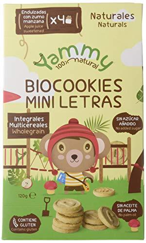 Yammy, Galleta Ecológica Infantil (Mini Letras Multicereales) - 6 de 120 gr....