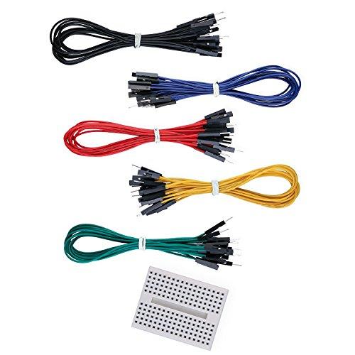 Elegoo Jumper Wire Kabel Male Female 200mm 50er Set und EIN Gratis 170 Kontakte Breadboard