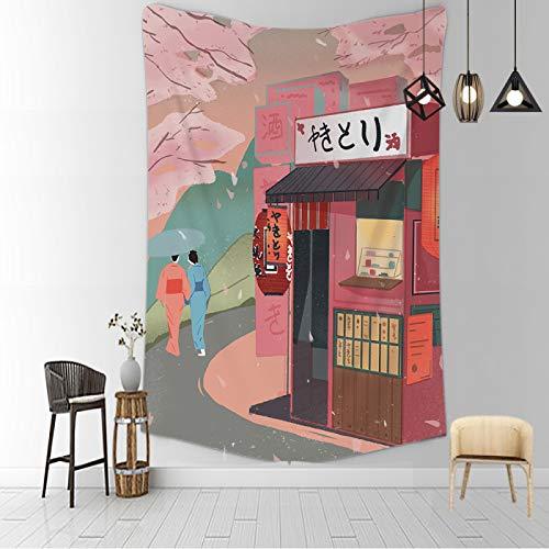 CNYG Manta psicodélico Kanagawa con impresión de onda de suspensión para colgar en la pared, manta bohemia para colgar en la pared, decoración del hogar, dormitorio, tapiz ragazzac 150 x 100 cm