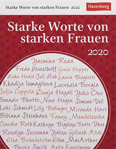 Starke Worte von starken Frauen Wissenskalender. Tischkalender 2020. Tageskalendarium. Blockkalender. Format 12,5 x 16 cm