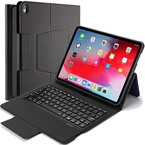 iPad Pro12.9 2018 第三世代 Bluetooth キーボード ワイヤレスキーボード 超薄TPUケース ペンシル収納付き ブルートゥース Bluetooth キーボード スタンド カバー 対応型番 A1876/A1895/A1983/A201