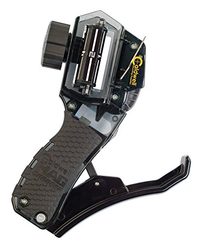 Caldwell Universal Pistol Loader with Ergonomic Design, Solid Fit Magazine Setting and Multi-Caliber Operation for Outdoor, Range, Shooting and Competition