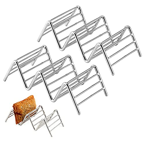 Soporte para tacos, 2 piezas de soporte para tacos, soportes para tacos de acero inoxidable, bandeja para tacos en forma de onda, hasta 2 o 3 tacos para el hogar, picnic, fiesta, lavavajillas y horno