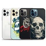 iPhone 12 用 ケース、iPhone12 pro用4パッククリアケース、iPhone12/12pro用の新年の可愛いケース、透明で柔らかいTPU電話ケース〔6.1インチ〕〔タイプE〕