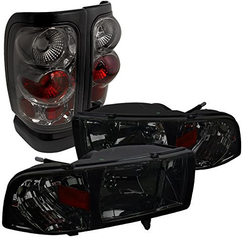 Spec-D Tuning for Dodge Ram Euro Smoke Tinted Crystal Head Lights+Tail Brake Lamps