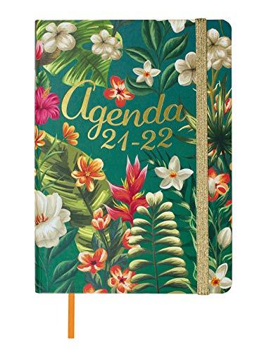 Finocam Agenda 2021 2022 Semana vista apaisada Septiembre 2021, Agosto 2022 12 meses M4, 118 x 168 Natural Tropical Catalán