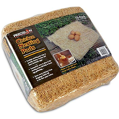 Precision Pet by Petmate Excelsior Nesting Pads Chicken Bedding - 13x13 Inches - Package of 10