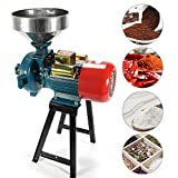 SLSY Electric Grain Mill Grinder Heavy Duty 3000W, 110V Commercial Grain Grinder Machine Feed Grain Mills, Dry...