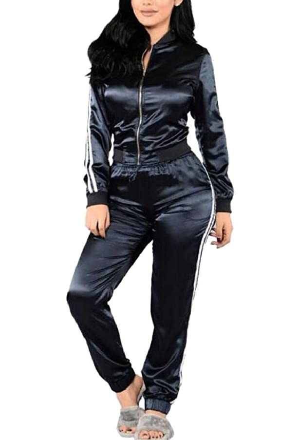 訴えるびっくりインカ帝国女性用アクティブ通気性スリムフィットジップ立体カラートラックセット