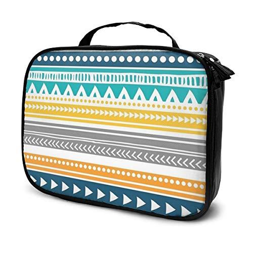 Trousse de maquillage de voyage colorée avec motif tribal