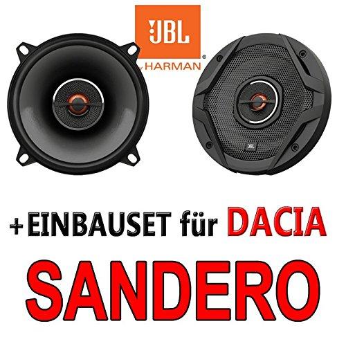 JBL GX502 | 2-Wege | 13cm Koax Lautsprecher - Einbauset für Dacia Sandero 1 - JUST SOUND best choice for caraudio