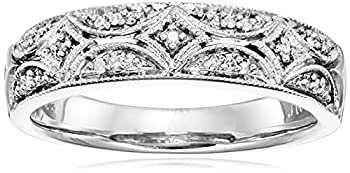 Sterling Silver Diamond Accent Band Ring Size 7