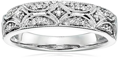 Christmas Gifts for Women Under 50 Dollars - Sterling Silver Diamond Band Ring